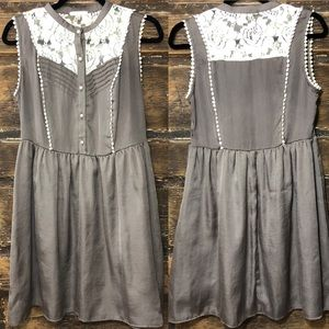 🎈NEW LISTING! JUST GINGER Gray & Cream Dress